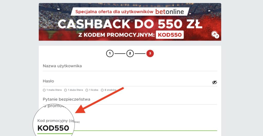 """Cashback 550 PLN w Betclic Polska! Kod promocyjny """"KOD550"""""""