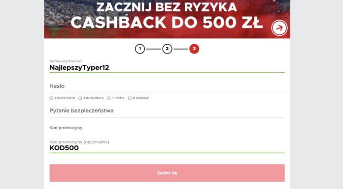 Cashback 500 PLN w Betclic Polska!